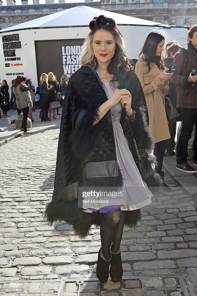 Kate Nash seen at Somerset House attending Day One of London Fashion Week on February 15, 2013 in London, England.