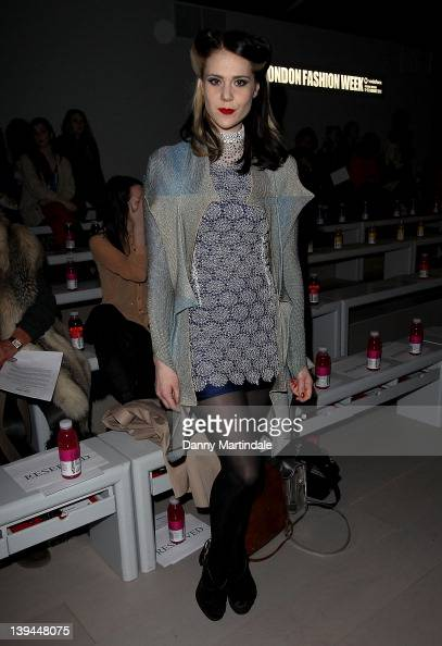 Kate Nash seen at the front row at the Ashish Autumn/Winter 2012 show at London Fashion Week at Somerset House on February 21 2012 in London England