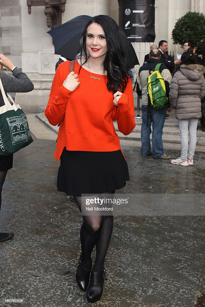 Kate Nash seen at the Pam Hogg Fashion Show on September 16, 2013 in London, England.