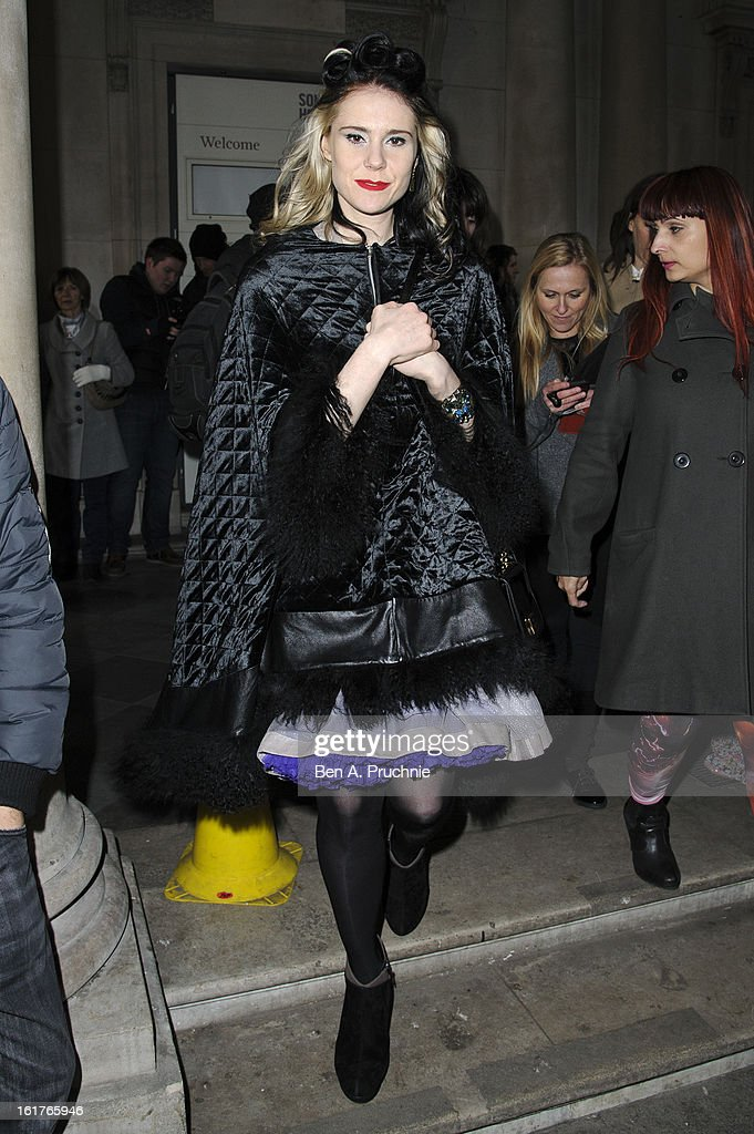 Kate Nash sighted at Somerset House during London Fashion Week F/W 2013 on February 15, 2013 in London, England.
