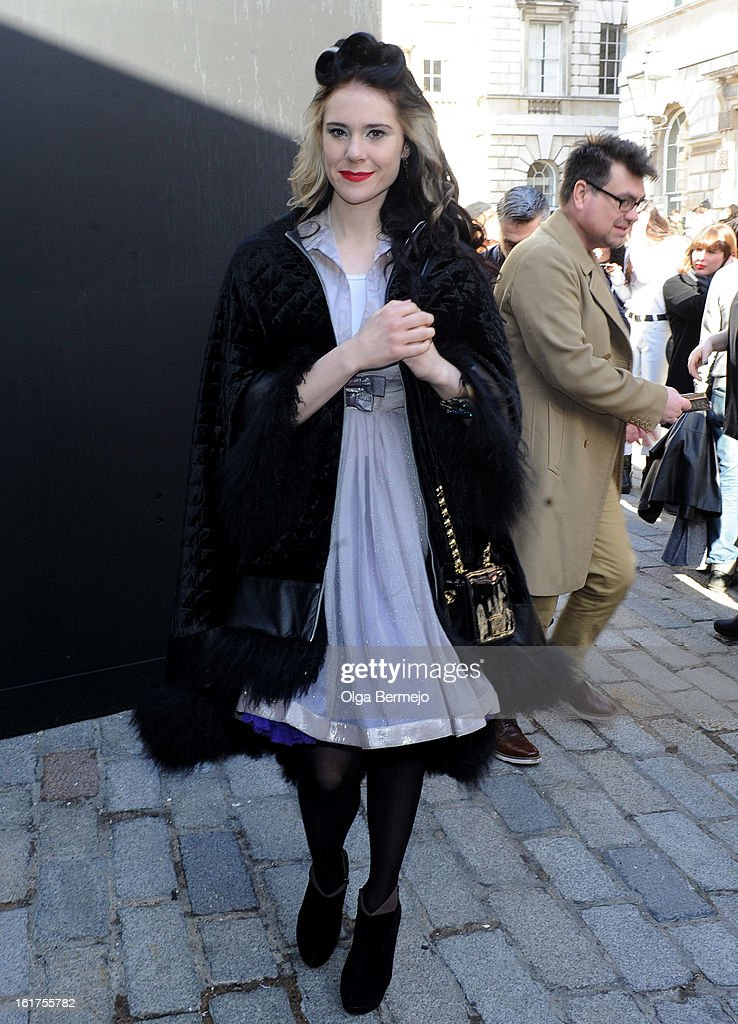 Kate Nash sighting on February 15, 2013 in London, England.