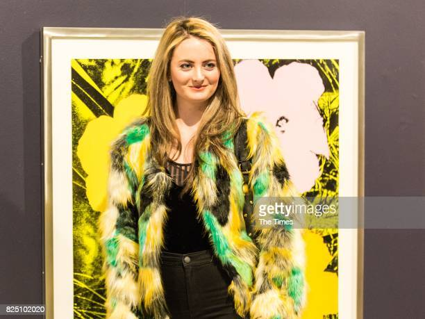 Kate Painting during the opening of the Andy Warhol exhibition at the Wits Art Museum on July 26 2017 in Johannesburg South Africa The exhibition is...