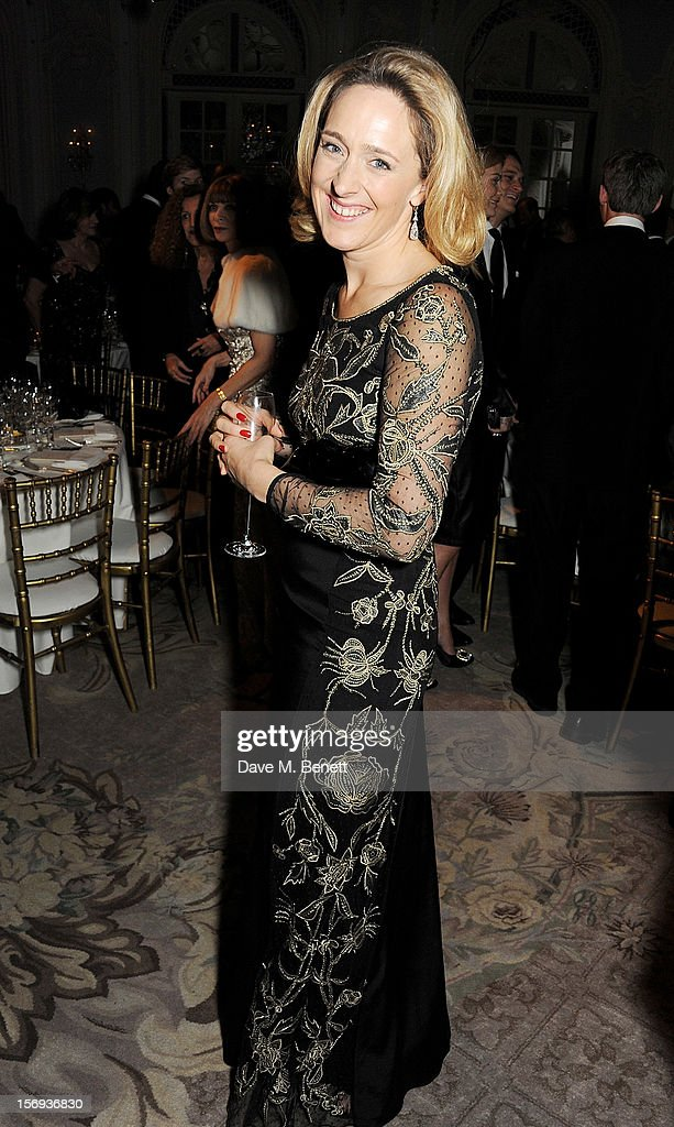Kate Pakenham attends a drinks reception at the 58th London Evening Standard Theatre Awards in association with Burberry at The Savoy Hotel on November 25, 2012 in London, England.