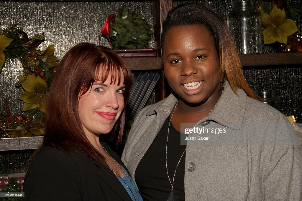 Kate Pazakis and Alex Newell attend SPARKLE an AllStar Holiday Concert to benefit The Actors Fund At Rockwell Table Stage on December 11 2014 in Los...