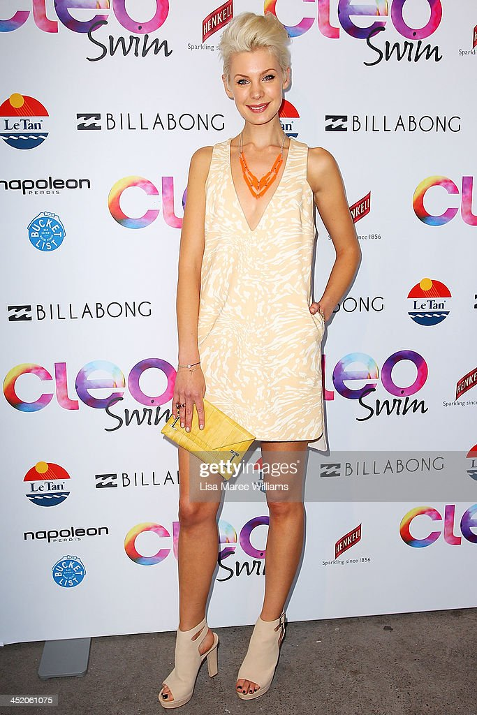 Kate Peck arrives at the 2013 CLEO Swim Party at The Bucket List on November 26, 2013 in Sydney, Australia.