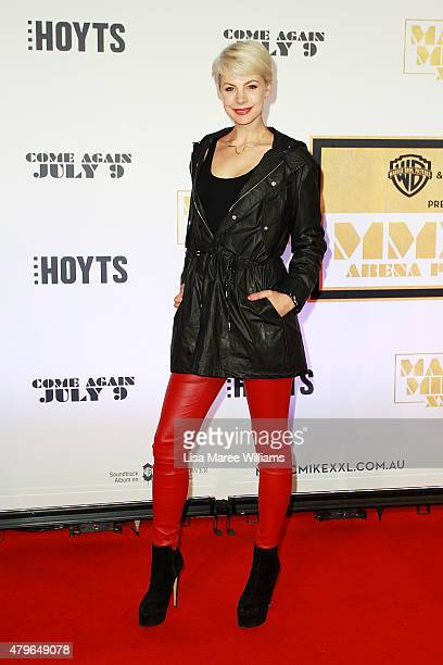 Kate Peck arrives at the 'Magic Mike XXL' Australian premiere on July 6 2015 in Sydney Australia