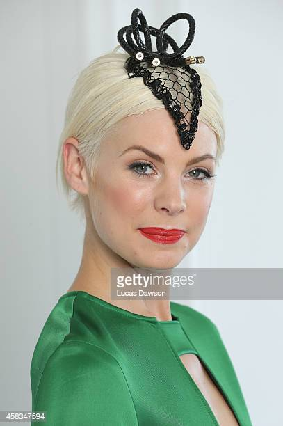 Kate Peck at the Myer Marquee on Melbourne Cup Day at Flemington Racecourse on November 4 2014 in Melbourne Australia