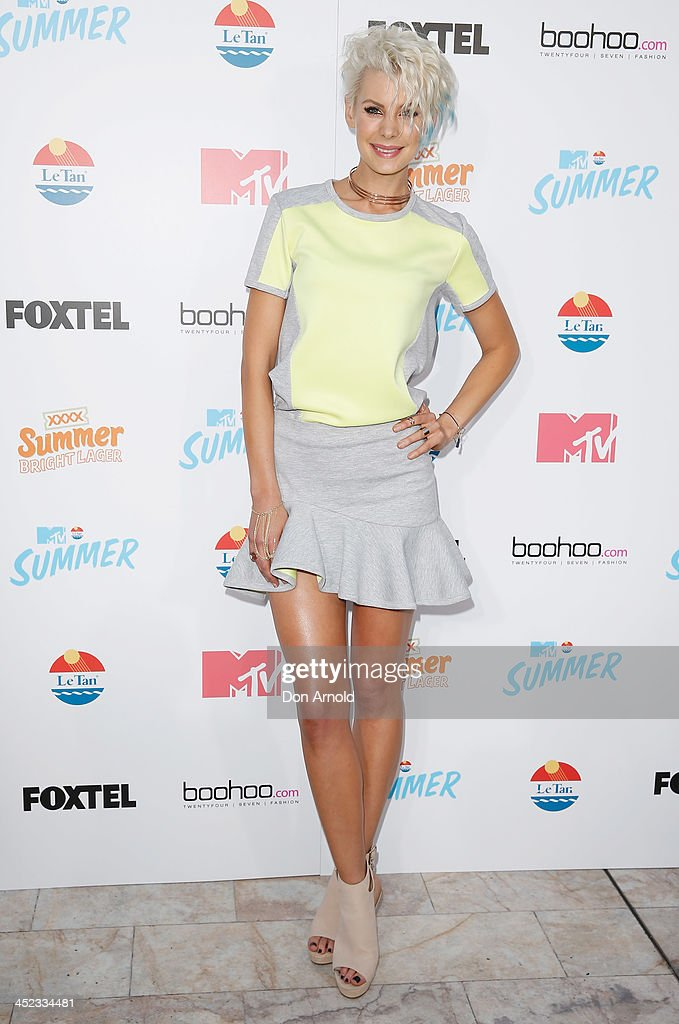 Kate Peck pose at MTV Summer at Sydney Town Hall on November 28, 2013 in Sydney, Australia.