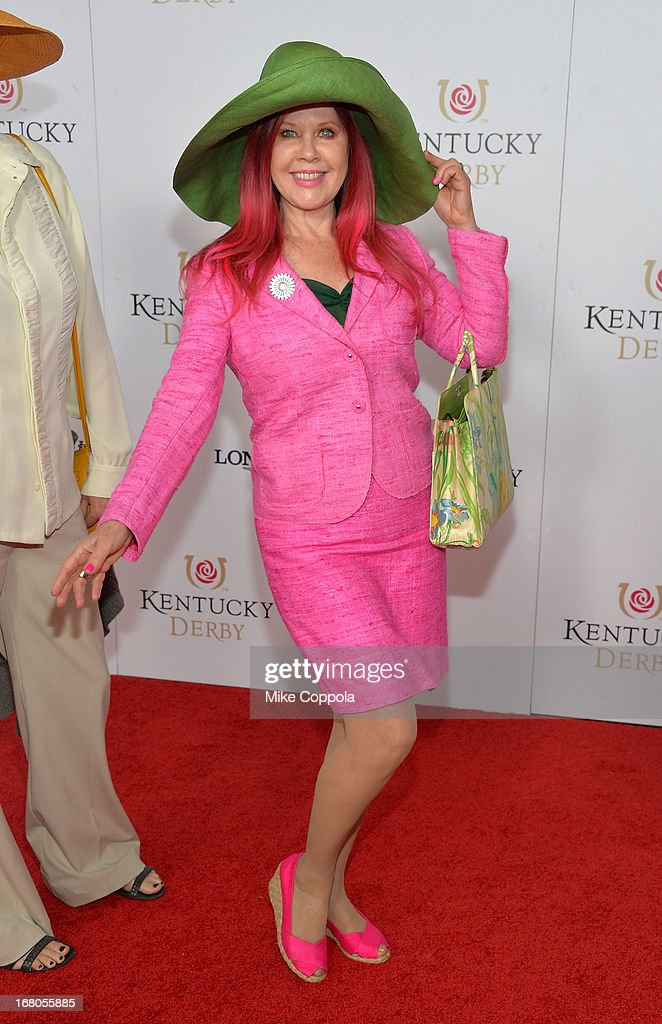 Kate Pierson celebrates the 139th Kentucky Derby with Moet & Chandon at Churchill Downs on May 4, 2013 in Louisville, Kentucky.