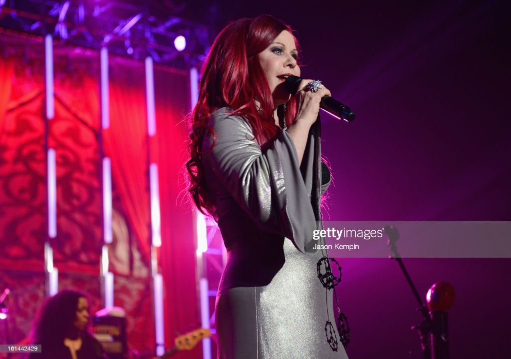 Kate Pierson of The B-52s performs at the 55th Annual GRAMMY Awards at the Los Angeles Convention Center on February 10, 2013 in Los Angeles, California.