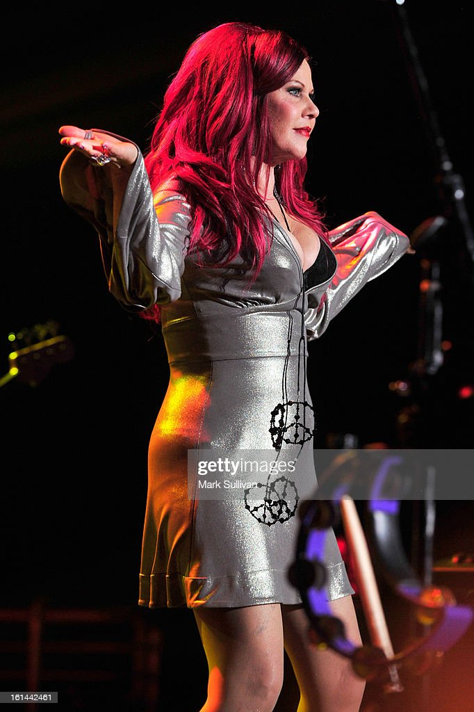 Kate Pierson of The B-52's performs at the 55th Annual GRAMMY Awards after party at the Los Angeles Convention Center on February 10, 2013 in Los Angeles, California.