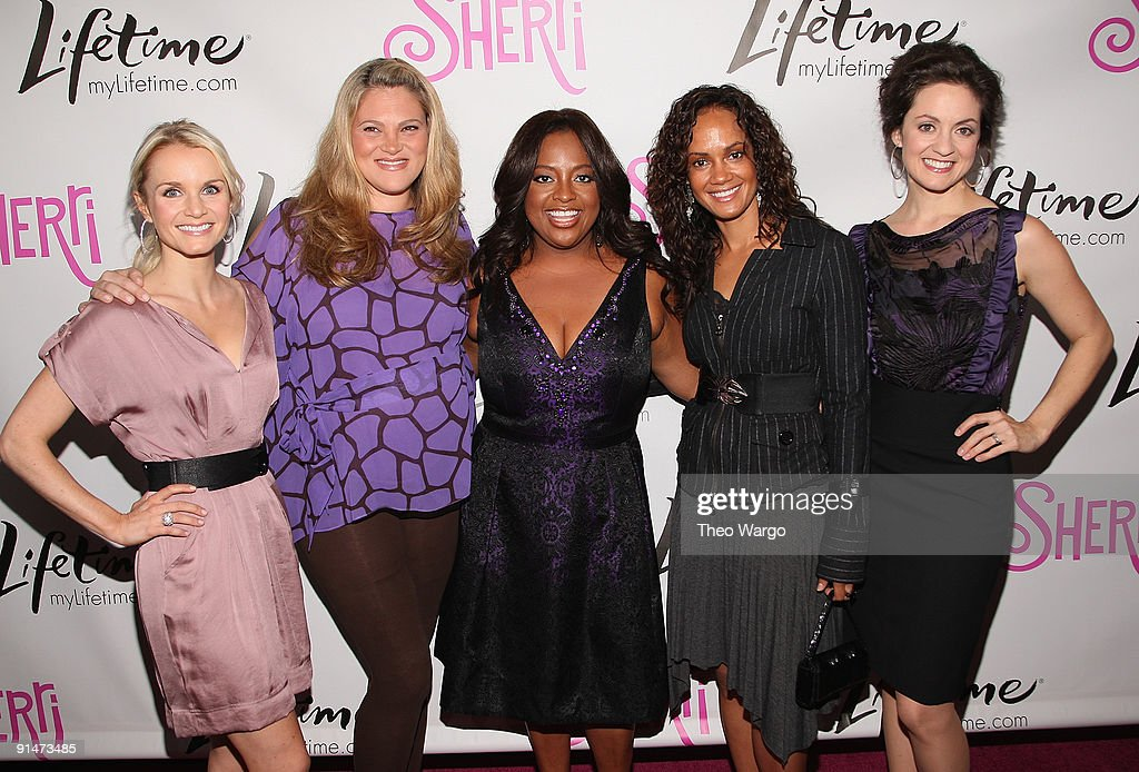 Kate Reinders, Elizabeth Regen, <a gi-track='captionPersonalityLinkClicked' href=/galleries/search?phrase=Sherri+Shepherd&family=editorial&specificpeople=693379 ng-click='$event.stopPropagation()'>Sherri Shepherd</a>, Tammy Townsend and Kali Rocha attend the Launch Party for new sitcom 'Sherri' at the Empire Hotel on October 5, 2009 in New York City.
