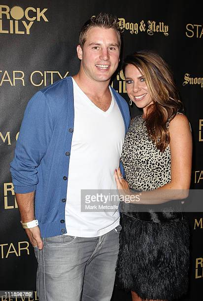 Kate Ritchie and Stuart Webb arrive for the exclusive Star City show by Snoop Dogg and Nelly at Star City on April 8 2011 in Sydney Australia