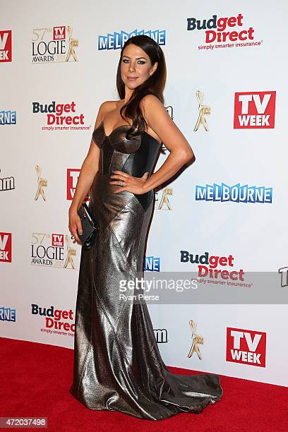 Kate Ritchie arrives at the 57th Annual Logie Awards at Crown Palladium on May 3 2015 in Melbourne Australia