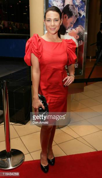 Kate Ritchie attends the Sydney premiere of Miss Saigon at the Lyric Theatre on September 22 2007 in Sydney Australia