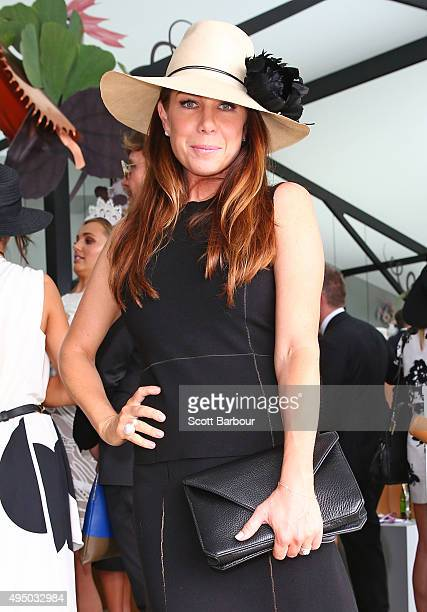 Kate Ritchie poses at the Myer Marquee on Derby Day at Flemington Racecourse on October 31 2015 in Melbourne Australia