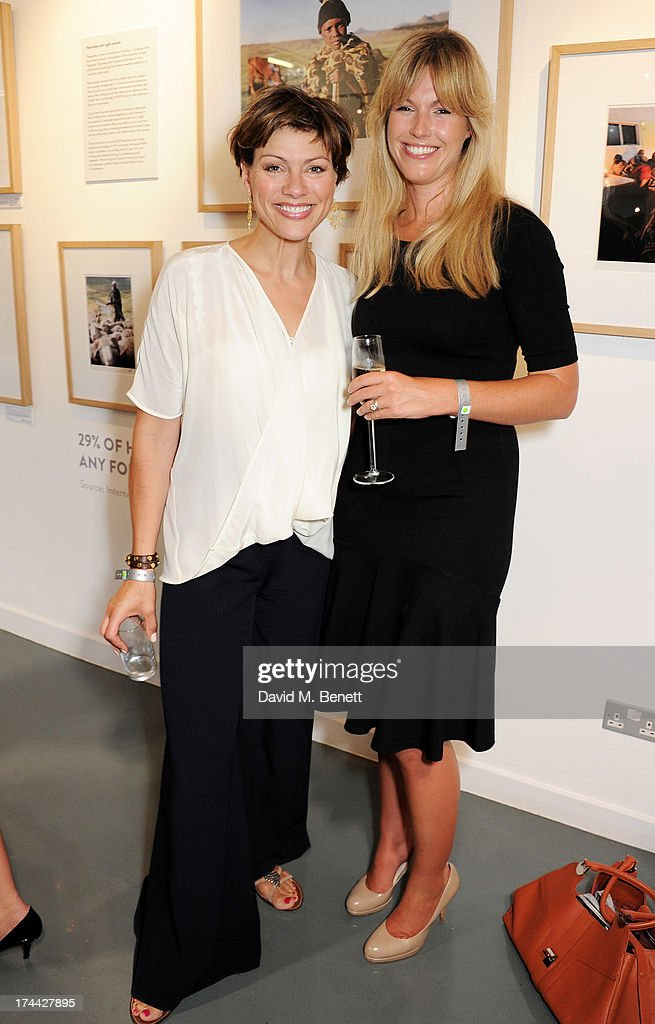 <a gi-track='captionPersonalityLinkClicked' href=/galleries/search?phrase=Kate+Silverton&family=editorial&specificpeople=666280 ng-click='$event.stopPropagation()'>Kate Silverton</a> (L) and Marina Fogle attend the private view of 'Sentebale - Stories Of Hope', showcasing images by Getty Images' Royal photographer Chris Jackson of Sentebale's work helping the vulnerable children of Lesotho, at the Getty Images Gallery on July 25, 2013 in London, England.