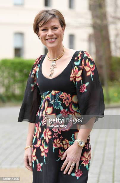 Kate Silverton attends the Launch of Maternal Mental Health Films ahead of Mother's Day at Royal College of Obstetricians and Gynaecologists on March...