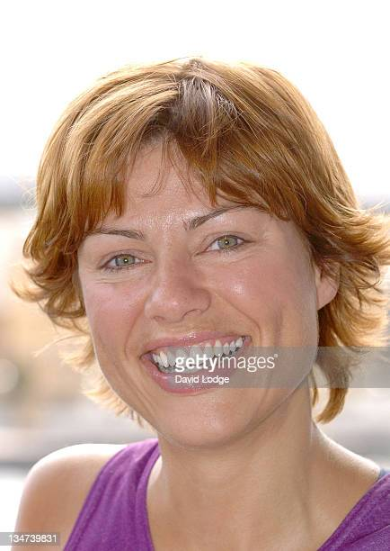 Kate Silverton during 2005 Michelob Ultra London Triathlon at ExCel Centre in London Great Britain