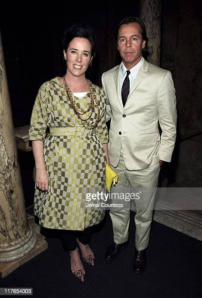 Kate Spade and Andy Spade during Children's Advocacy Center Dinner at L'Orangerie Villard Mansion in New York New York United States