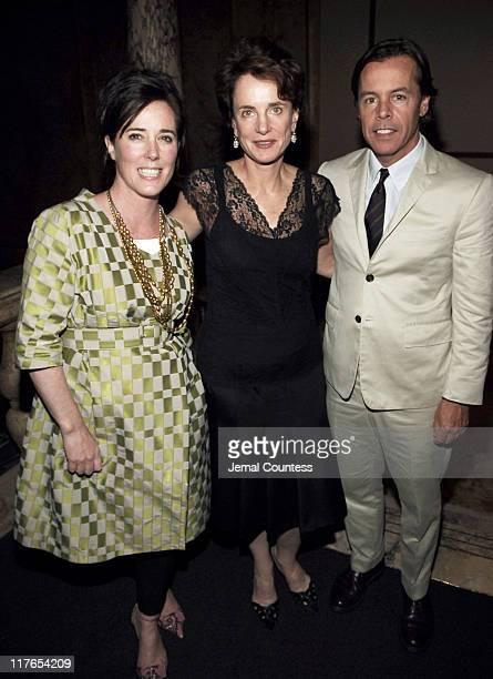 Kate Spade Nancy Novogrod and Andy Spade during Children's Advocacy Center Dinner at L'Orangerie Villard Mansion in New York New York United States