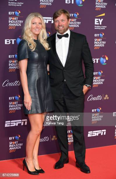 Kate Thomson and Alex Thomson attend the BT Sport Industry Awards at Battersea Evolution on April 27 2017 in London England