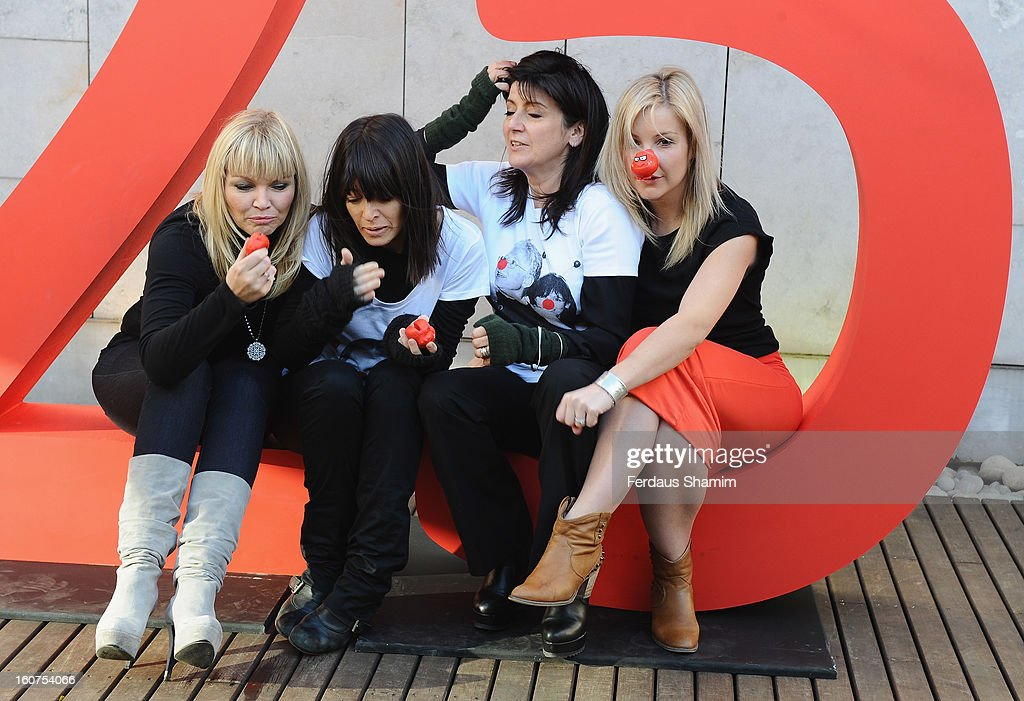 <a gi-track='captionPersonalityLinkClicked' href=/galleries/search?phrase=Kate+Thornton&family=editorial&specificpeople=215094 ng-click='$event.stopPropagation()'>Kate Thornton</a>, <a gi-track='captionPersonalityLinkClicked' href=/galleries/search?phrase=Claudia+Winkleman&family=editorial&specificpeople=224036 ng-click='$event.stopPropagation()'>Claudia Winkleman</a>, <a gi-track='captionPersonalityLinkClicked' href=/galleries/search?phrase=Emma+Freud&family=editorial&specificpeople=220375 ng-click='$event.stopPropagation()'>Emma Freud</a> and <a gi-track='captionPersonalityLinkClicked' href=/galleries/search?phrase=Helen+Skelton&family=editorial&specificpeople=5831127 ng-click='$event.stopPropagation()'>Helen Skelton</a> attend a photocall to celebrate 25 yeas of Red Nose Day for Comic Relief at Southbank Centre on February 5, 2013 in London, England.