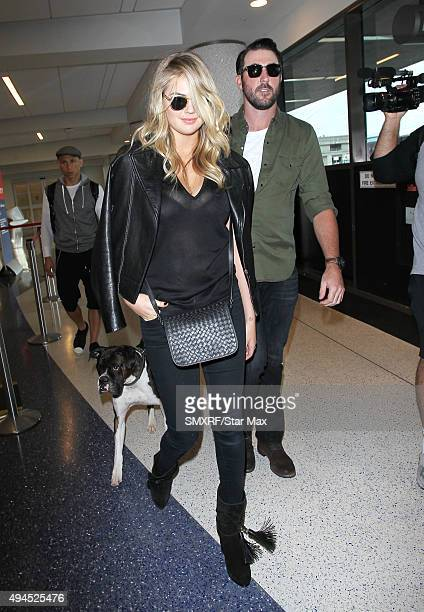 Kate Upton and Justin Verlander are seen on October 27 2015 in Los Angeles California