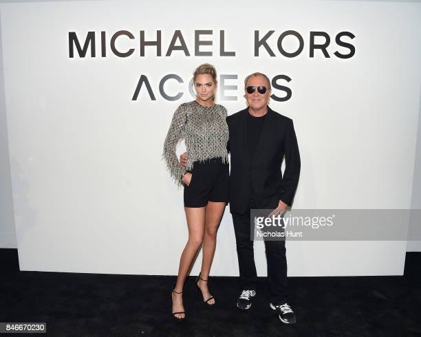 Kate Upton and Michael Kors attend Michael Kors and Google Celebrate new MICHAEL KORS ACCESS Smartwatches at ArtBeam on September 13 2017 in New York...