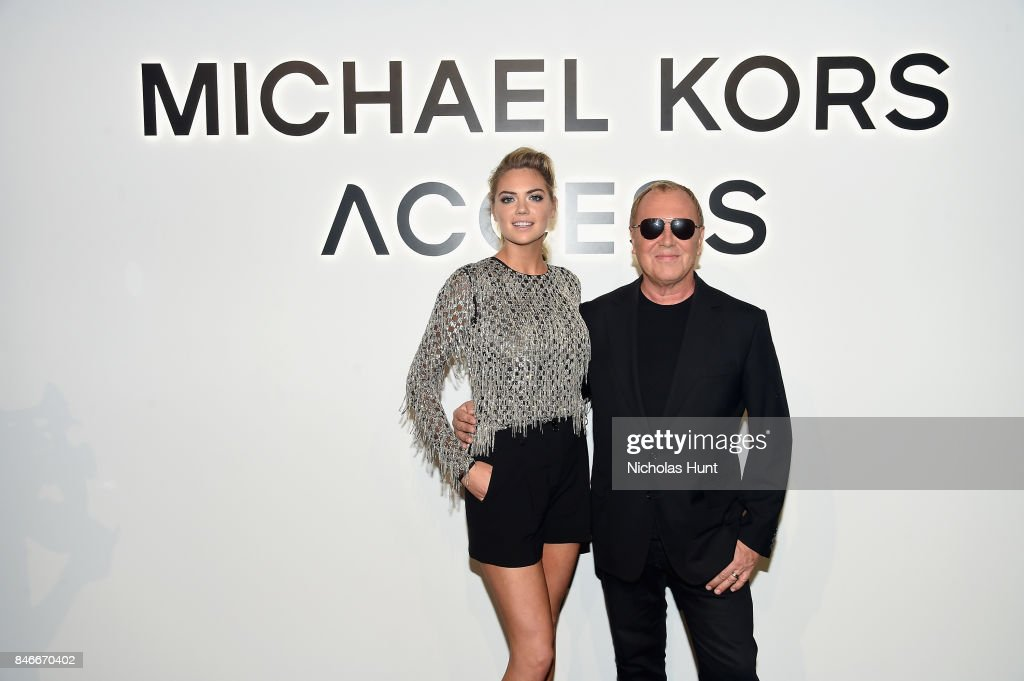 Kate Upton and Michael Kors attend Michael Kors and Google Celebrate new MICHAEL KORS ACCESS Smartwatches at ArtBeam on September 13, 2017 in New York City.