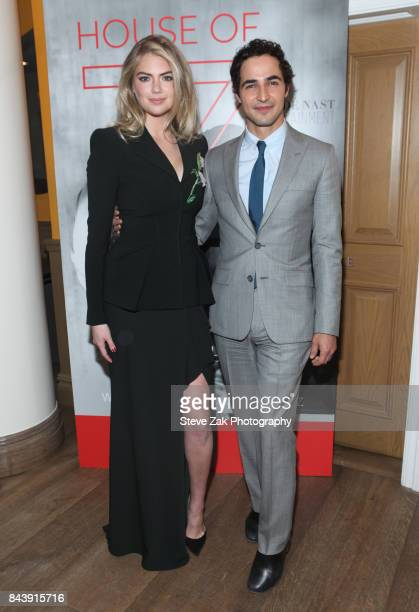 Kate Upton and Zac Posen attend the premiere of 'House Of Z' hosted by Brooks Brothers with The Cinema Society at Crosby Street Hotel on September 7...