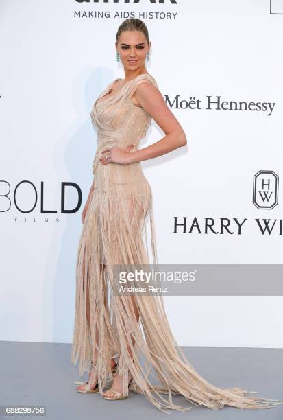 Kate Upton arrives at the amfAR Gala Cannes 2017 at Hotel du CapEdenRoc on May 25 2017 in Cap d'Antibes France