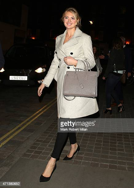 Kate Upton at the Chiltern Firehouse on April 27 2015 in London England