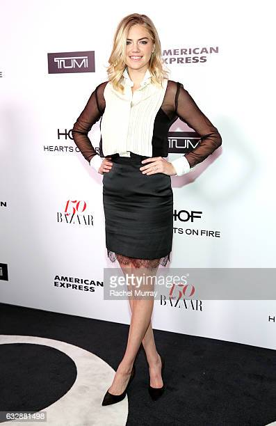 Kate Upton attends Harper's BAZAAR celebration of the 150 Most Fashionable Women presented by TUMI in partnership with American Express La Perla and...