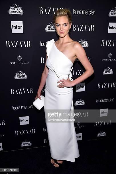Kate Upton attends Harper's Bazaar's celebration of 'ICONS By Carine Roitfeld' presented by Infor Laura Mercier and Stella Artois at The Plaza Hotel...