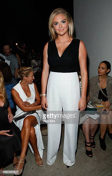 Kate Upton attends Narciso Rodriguez fashion show during Spring 2016 New York Fashion Week at SIR Stage37 on September 15 2015 in New York City