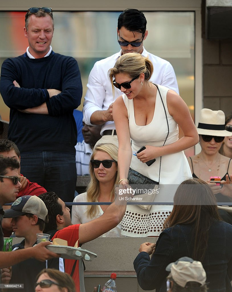 Kate Upton attends the 2013 US Open at USTA Billie Jean King National Tennis Center on September 7, 2013 in New York City.