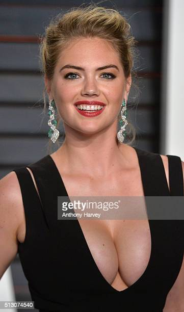 Kate Upton attends the 2016 Vanity Fair Oscar Party hosted By Graydon Carter at Wallis Annenberg Center for the Performing Arts on February 28 2016...