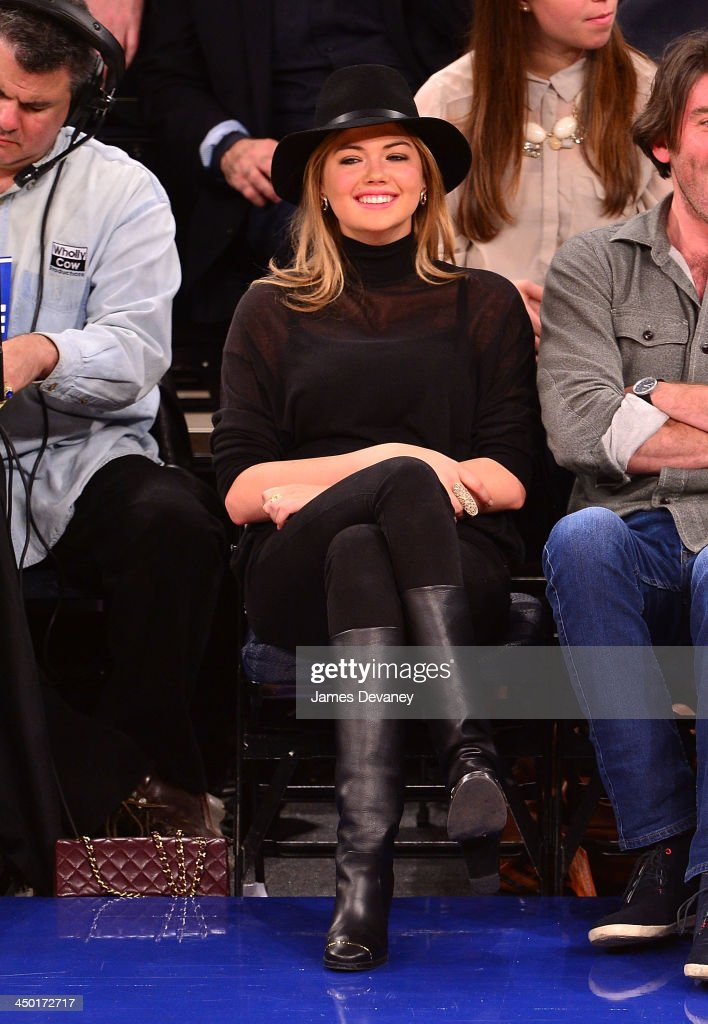 Kate Upton attends the Atlanta Hawks vs New York Knicks game at Madison Square Garden on November 16, 2013 in New York City.