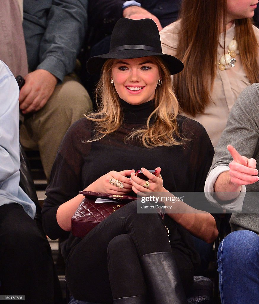 Kate Upton attends the Atlanta Hawks vs New York Knicks game at Madison Square Garden on November 16, 2013 in New York City.