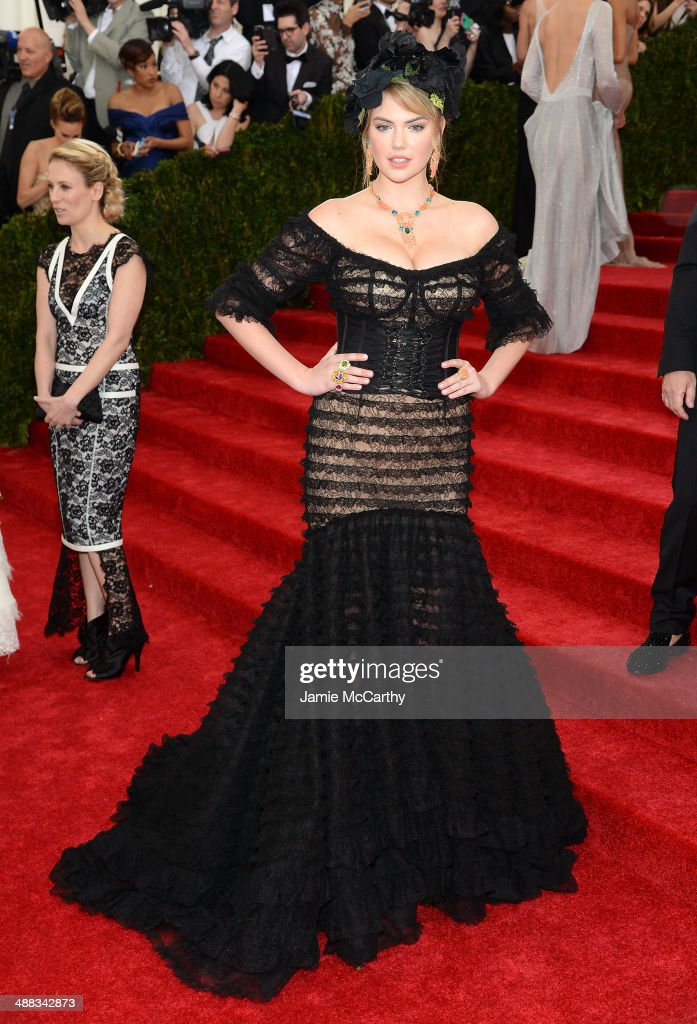 Kate Upton attends the 'Charles James: Beyond Fashion' Costume Institute Gala at the Metropolitan Museum of Art on May 5, 2014 in New York City.