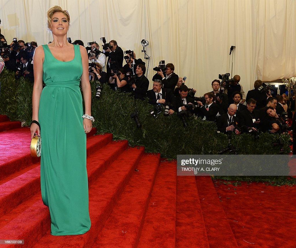 Kate Upton attends the Costume Institute Benefit at The Metropolitan Museum of Art May 6, 2013, celebrating the opening of Punk: Chaos to Couture.