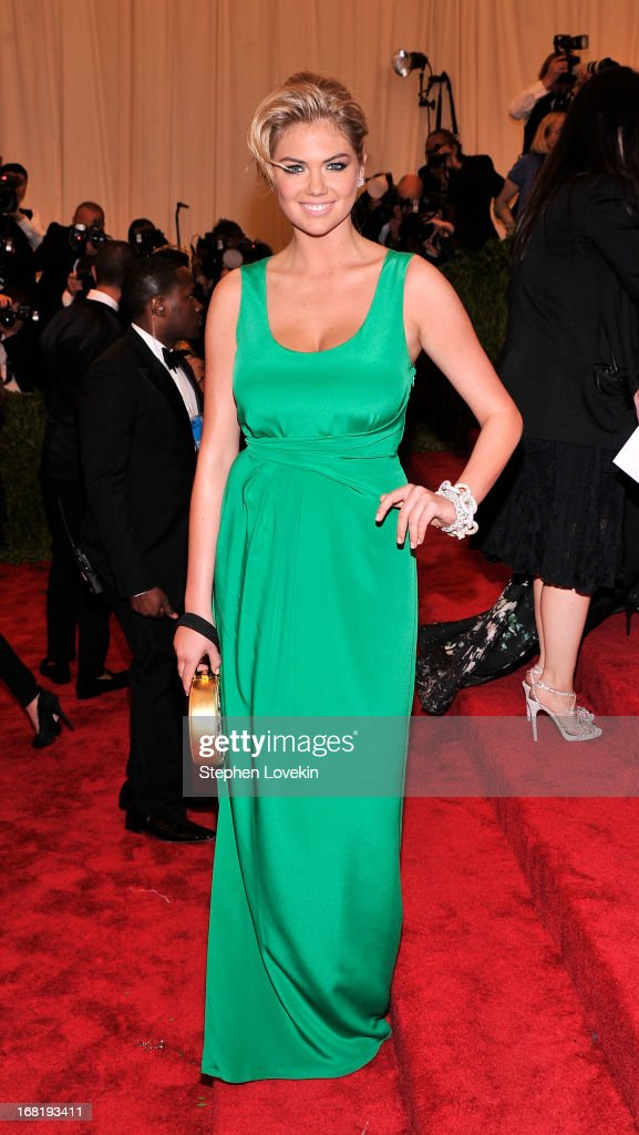 Kate Upton attends the Costume Institute Gala for the 'PUNK: Chaos to Couture' exhibition at the Metropolitan Museum of Art on May 6, 2013 in New York City.