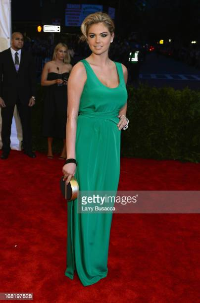 Kate Upton attends the Costume Institute Gala for the 'PUNK Chaos to Couture' exhibition at the Metropolitan Museum of Art on May 6 2013 in New York...