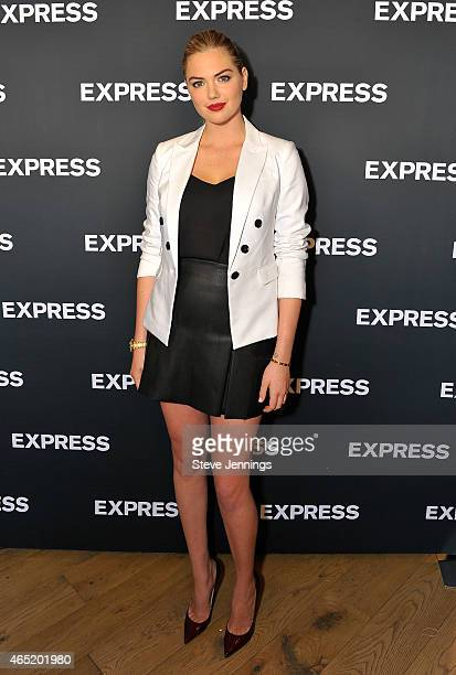 Kate Upton attends the EXPRESS Spring Fling Event at Union Square on March 3 2015 in San Francisco California