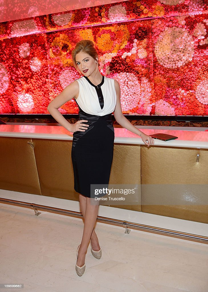 <a gi-track='captionPersonalityLinkClicked' href=/galleries/search?phrase=Kate+Upton&family=editorial&specificpeople=7488546 ng-click='$event.stopPropagation()'>Kate Upton</a> attends the grand opening of Andrea's at Wynn Las Vegas on January 16, 2013 in Las Vegas, Nevada.
