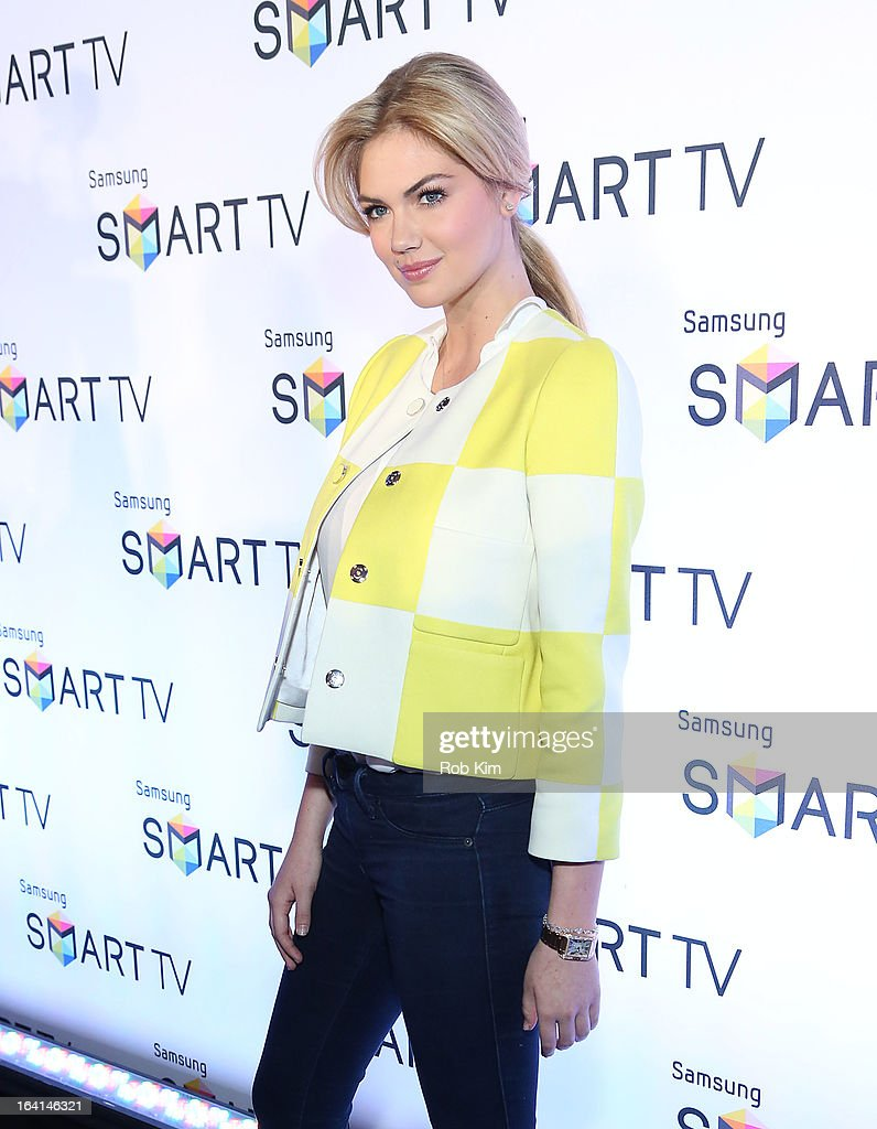Kate Upton attends the launch of Samsung's 2013 Television line at Museum Of American Finance on March 20, 2013 in New York City.