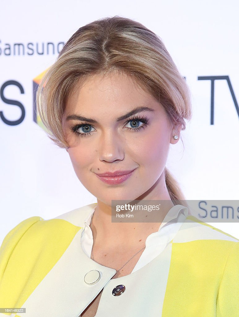 <a gi-track='captionPersonalityLinkClicked' href=/galleries/search?phrase=Kate+Upton&family=editorial&specificpeople=7488546 ng-click='$event.stopPropagation()'>Kate Upton</a> attends the launch of Samsung's 2013 Television line at Museum Of American Finance on March 20, 2013 in New York City.