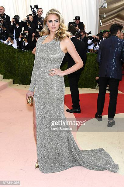 Kate Upton attends the 'Manus x Machina Fashion In An Age Of Technology' Costume Institute Gala at Metropolitan Museum of Art on May 2 2016 in New...