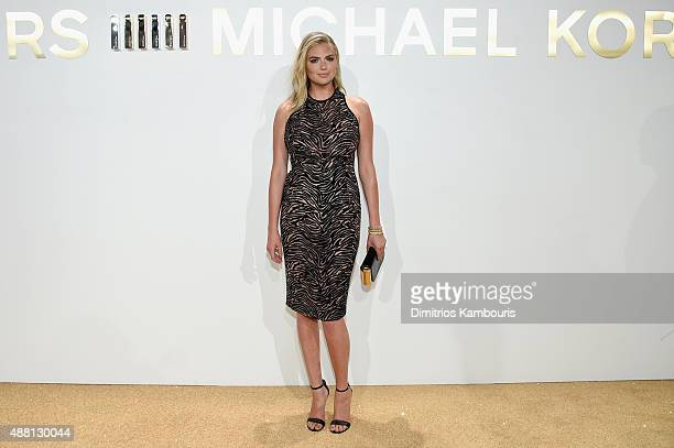 Kate Upton attends the new Gold Collection fragrance launch hosted by Michael Kors featuring Duran Duran at Top of The Standard Hotel on September 13...